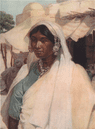 'An Indian woman' by Norman Hardy. India 1913 old antique print picture